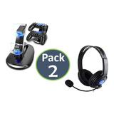 Cargador Doble Control Ps4 + Audifonos Ps4 Con Micrófono !