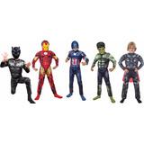 Disfraz Iron Man Hulk Thor Capitan America Blackpanther Musc