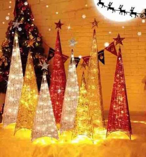 34b26f786e3 Árbol Pino Navidad Pirámide Luz Led 2.10  1.80 1.50 Mt
