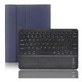 Funda Con Teclado Bluetooth Para iPad Air 10.5 Azul