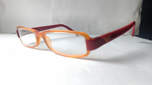 9d9092762b Lentes Ópticos Emporio Armani Ea9391 Square Orange Red Italy