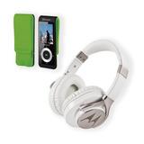 Kit Mp4 Elem32btbg + Audifono Motorola Pulse Max White