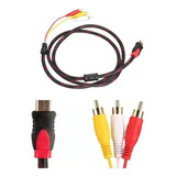 Cable Hdmi A 3 Rca Digital Audio Video Macho 1.5 Mts