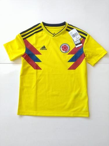 Camiseta Selección Colombia 2018 Titular Niño adidas Nueva 47029d84da276