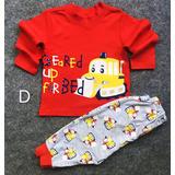 Oferta Conjunto Pijama Algodon Para Bebe Niño