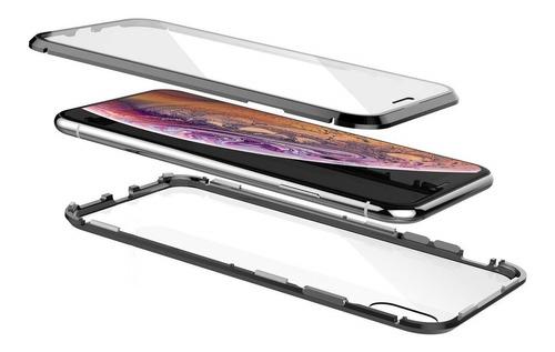 Carcasa Magnética 360° iPhone Xs Max X Xr + Vidrio + Envio
