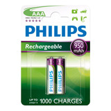Pilas Recargables Philips X2 Aaa
