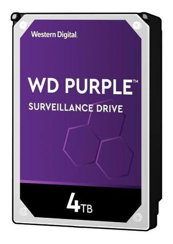 Disco Duro Wd Purple Wd40purz 4tb Surveillance 64mb 5400rpm