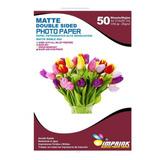 Papel Foto Doble Faz Matte A4/300g/50 Hojas. Envio Gratis X5