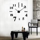 Acrílico Moderno Diy Reloj De Pared 3d Espejo Superficie Pe