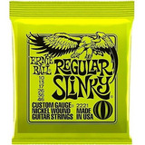 Set Cuerdas Guitarra Eléctrica 010 Ernie Ball 2221 Regular