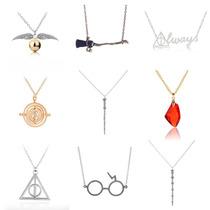 Set 5 Collares Harry Potter Snitch Giratiempo Reliquias