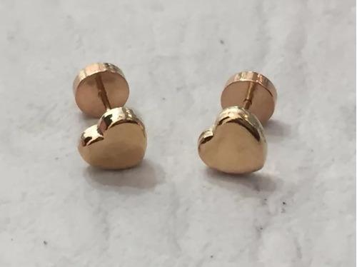 ab307a20d0e3 Aros Abridores De Oro 18k Diseño Corazón Para Bebés Y Niñas