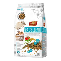 Excellent Alimento Completo Hamster Y Gerbos 500g Pethome