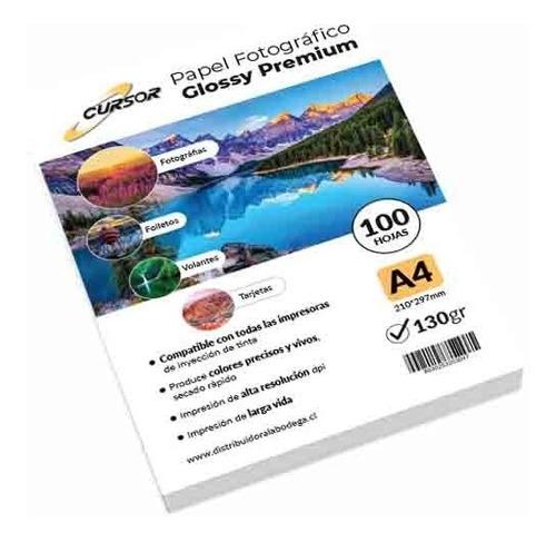 Papel Fotográfico A4 130gr Gramos Pack 100 Hojas