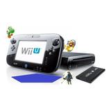Wii U Desbloqueada + Disco Duro 500gb Con 80 Juegos