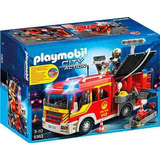 Camion De Bomberos Con Luces Y Sonido Playmobil