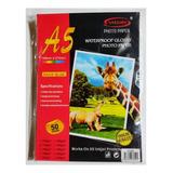 Papel De Sticker A5 Glossy 50hjs 135grs / Papel Adhesivo