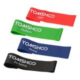 Tomshoo - Juego De 4 Bandas De Resistencia Para Ejercicios (