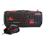Kit Teclado + Mouse Gamer Led Usb Xtrike Me