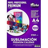 Pack 100 Hojas Papel Profesional Sublimacion A4 Para Inkjet
