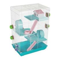 Jaula Hamster 3 Pisos Extra Grande Full Equipo Pethome Chile