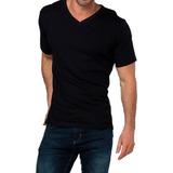 Camiseta Manga Corta Cotton Rib Jockey Cuello V