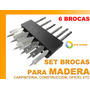 Set Brocas Madera Profesional Talleres Carpinteria Maestros