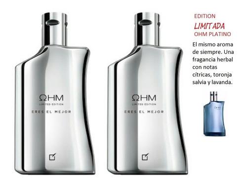 5357be3de7 Pack 2 Perfumes Hombre Ohm Platino De Unique Yanbal 100 Ml