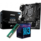 Kit Actualizacion Pc | Intel I3 8100 + Msi H310 + 8gb Ddr4