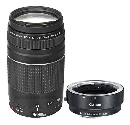 Pack Canon Eos M Zoom Ef 75-300mm + Adaptador Ef-m