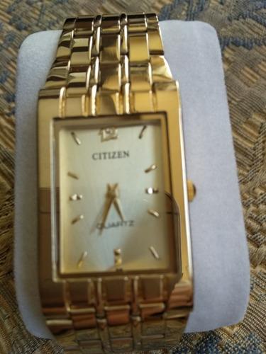 45c275f3126a Reloj Citizen Original De Fabrica Enchapado En Oro 18k