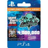 $4.000.000 Dinero Gta V Online - Ps4 - 100% Seguro