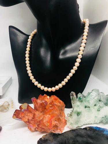 86a926f62526 Collar De Perlas Cultivadas Genuinas Rosadas.