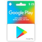 Tarjeta Google Play Gift Card Usd 25 Dolares Envio Rapido