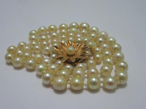 b22b6a45c173 Collar De Perlas Cultivadas Nuevo Oro 18 Ktls Envio Gratis