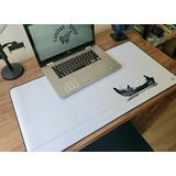 Mouse Pad Xxl Minimalista Blanco 80x40cm - Antideslizante