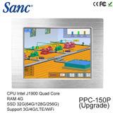Panel Fanless 15inch Tuoch Celeron N2930 Ram 4g Ssd 32gb