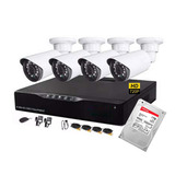 Cctv Kit De Seguridad 4 Cam Hd 720p Con Disco 1tb