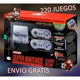Snes Mini Classic + 220 Juegos Nueva // Mathogamestore