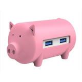 Hub Litte Pig Puerto Lector Tf Sd Azul