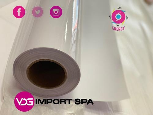 Papel Adhesivo De Laminación Glossy   35 Cm X 50mt.