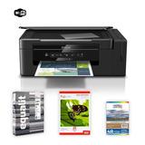Impresora Epson L395 + Papeles Fotos + Resma Equalit