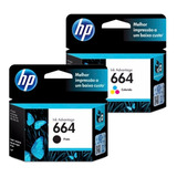Tinta Hp 664 Pack Negra Mas Color