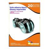 Vinilo Adhesivo Imprimible A4/20hojas..envio Gratis X 4 Un!