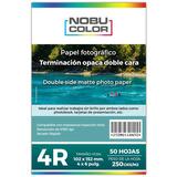 Papel Foto Matte Doble Cara 4r 102x152 Mm. 250 Gr. 50 Hojas