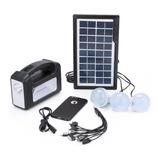Kit Solar Emergencia Camping 220v Ampolletas 30 Hrs Ml1162