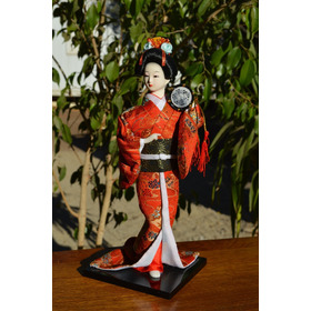 Geisha - Muñecas Orientales De Colección - Modelo Tambor