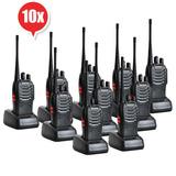Set 10 Radios Handy Baofeng Uhf Bf-888s Metinca Envio Gratis