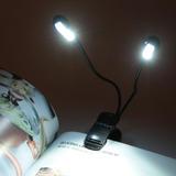 Luz 8 Led Para Libros Lectura Nocturna Con Clip Flexible